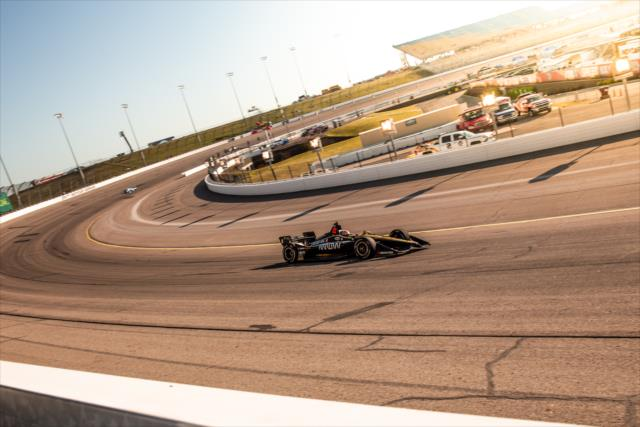 Friday night practice for the INDYCAR Iowa 300 at Iowa Speedway.