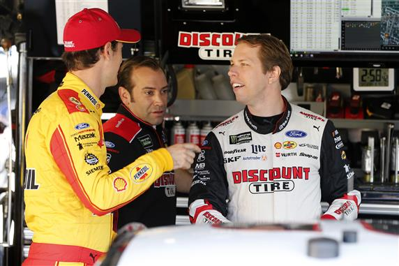 Logano and Keselowski chat with Paul Wolfe