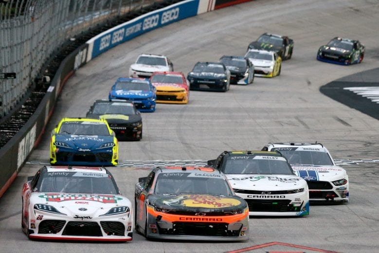 Early race action on Friday nights Food City 300 in Bristol