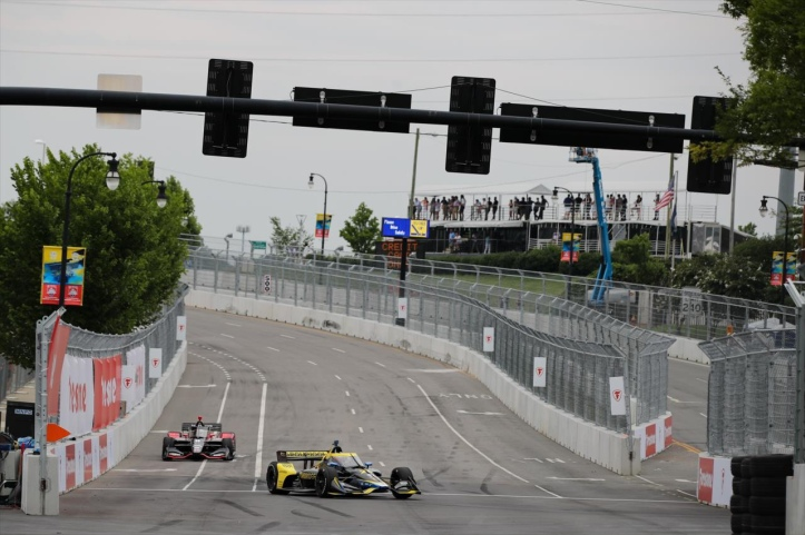 Turn 9 is going to be a passing zone this weekend in Nashville - Photo Credit INDYCAR Media Site